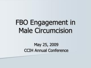 FBO Engagement in Male Circumcision