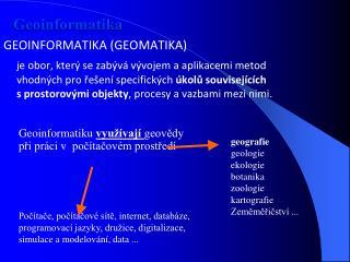 Geoinformatika