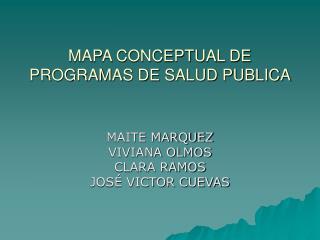 MAPA CONCEPTUAL DE PROGRAMAS DE SALUD PUBLICA