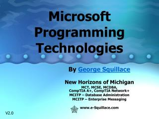 Microsoft Programming Technologies
