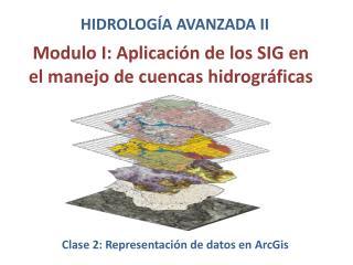 Modulo I:  Aplicación de los SIG en el manejo de cuencas hidrográficas