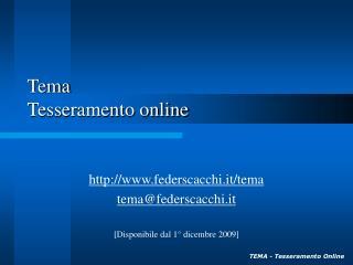 Tema Tesseramento online