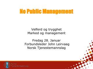 No Public Management