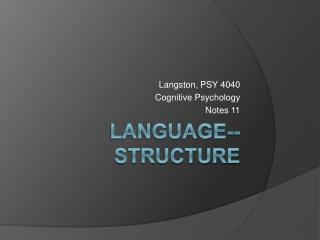 Language--Structure