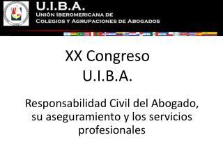 XX Congreso  U.I.B.A.