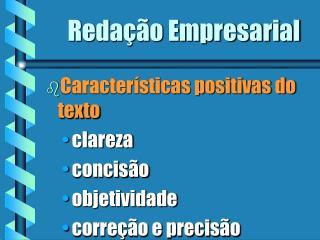 Reda��o Empresarial