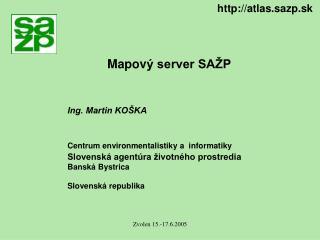 Mapov ý server SAŽP