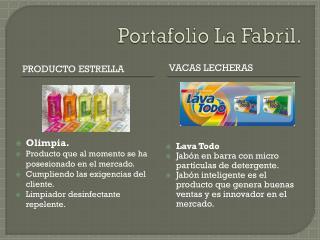 Portafolio La Fabril.