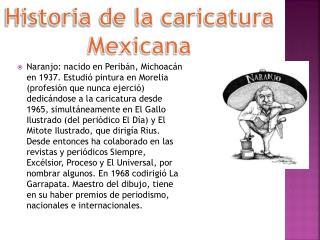Historia de la caricatura Mexicana