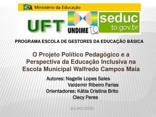 Autores: Nagelle Lopes Sales                         Valdemir Ribeiro Farias