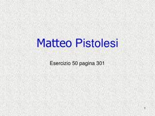 Matteo  Pistolesi