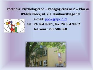 Poradnia  Psychologiczno –Pedagogiczna nr 2  w Płocku