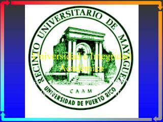 Universidad e Integridad Académica
