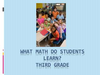 What math do students learn? Third grade