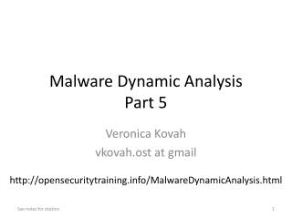 Malware Dynamic  Analysis Part 5