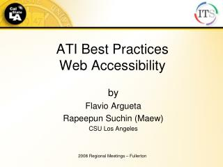 ATI Best Practices Web Accessibility