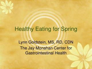 Healthy Eating for Spring