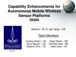 Capability Enhancements for Autonomous Mobile Wireless Sensor Platforms 05506