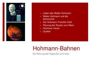 Hohmann-Bahnen