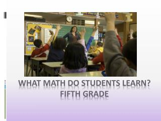 What Math do Students Learn?  Fifth Grade