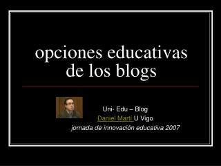 opciones educativas de los blogs