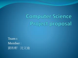 Computer Science Project proposal