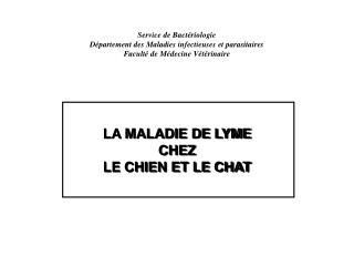 LA MALADIE DE LYME CHEZ LE CHIEN ET LE CHAT