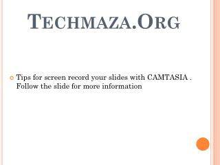 Techmaza.Org
