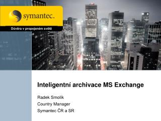 Inteligentní archivace MS Exchange