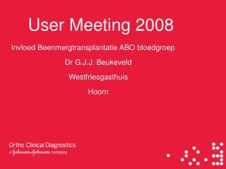 User Meeting 2008