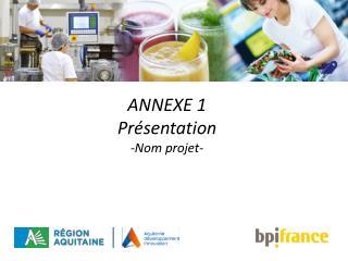 ANNEXE 1 Présentation -Nom projet-