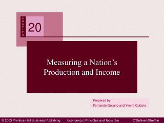 Measuring a Nation�s Production and Income
