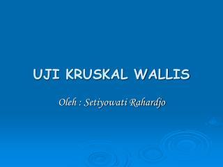 UJI KRUSKAL WALLIS
