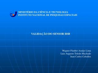 MINISTÉRIO DA CIÊNCIA E TECNOLOGIA INSTITUTO NACIONAL DE PESQUISAS ESPACIAIS