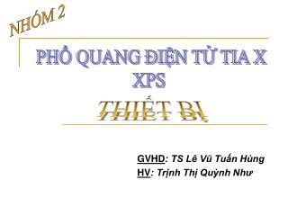 GVHD: TS L  Vu Tun H ng HV: Trnh Th Qunh Nhu