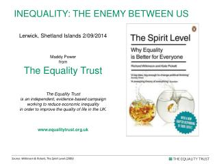INEQUALITY : THE  ENEMY BETWEEN US