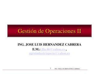 Gesti n de Operaciones II