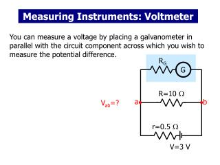 Measuring Instruments: Voltmeter