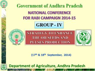NATIONAL CONFERENCE  FOR RABI CAMPAIGN 2014-15