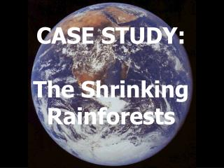 CASE STUDY: The Shrinking Rainforests