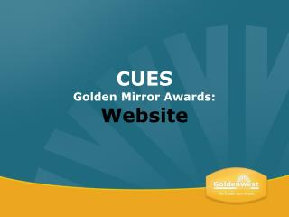 CUES Golden Mirror Awards: Website