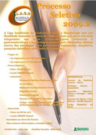 Processo Seletivo 2009.2