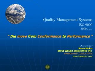 Quality  M anagement  S ystems ISO 9000 2000  revision