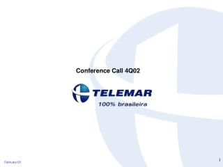 Conference Call 4Q02