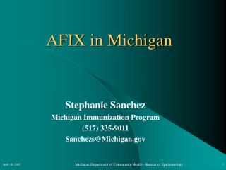 AFIX in Michigan