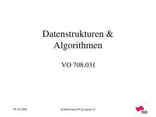 Datenstrukturen & Algorithmen