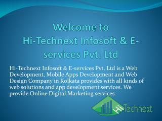 Hi Technext Infosoft & E-services Pvt Ltd-Web Design Company