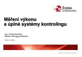 Měření výkonu a úplné systémy kontrolingu