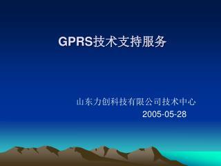 GPRS 技术支持服务