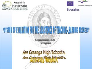 Ion Creanga High Schools Activity Report